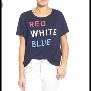 Sundry Tops - Sundry RED WHITE BLUE top size 1